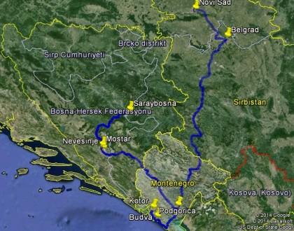 1. Balkan Seyahati Rotası